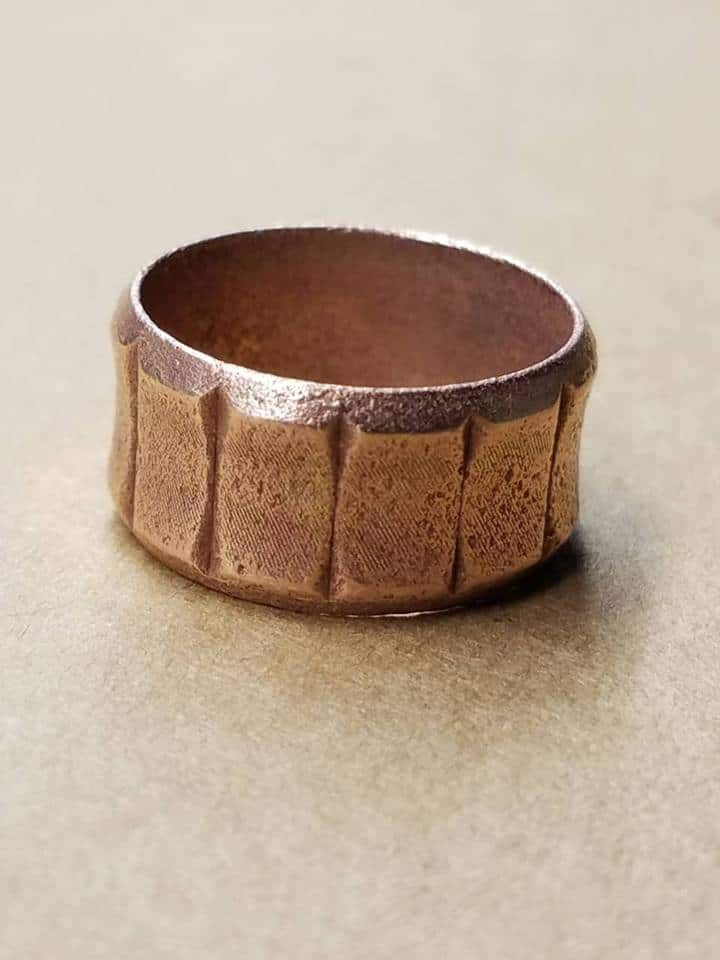 Copper Ringe found by a Metal Detector