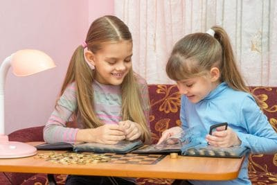 coin collecting and kids