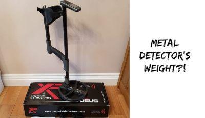 metal detector weight