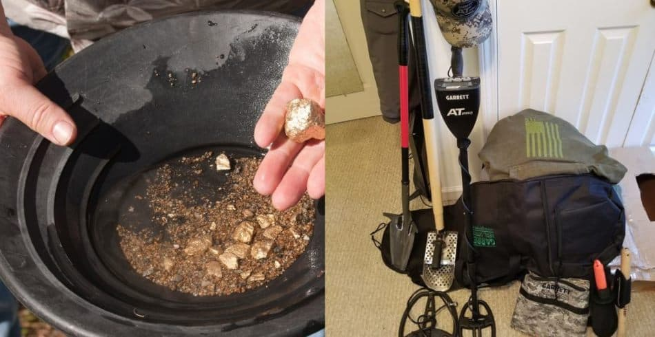 gold panning vs metal detecting