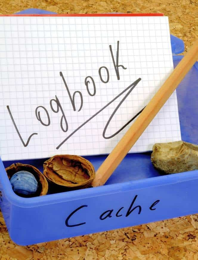 logging for a geocaching find